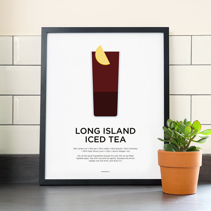 Long Island Iced Tea cocktail poster