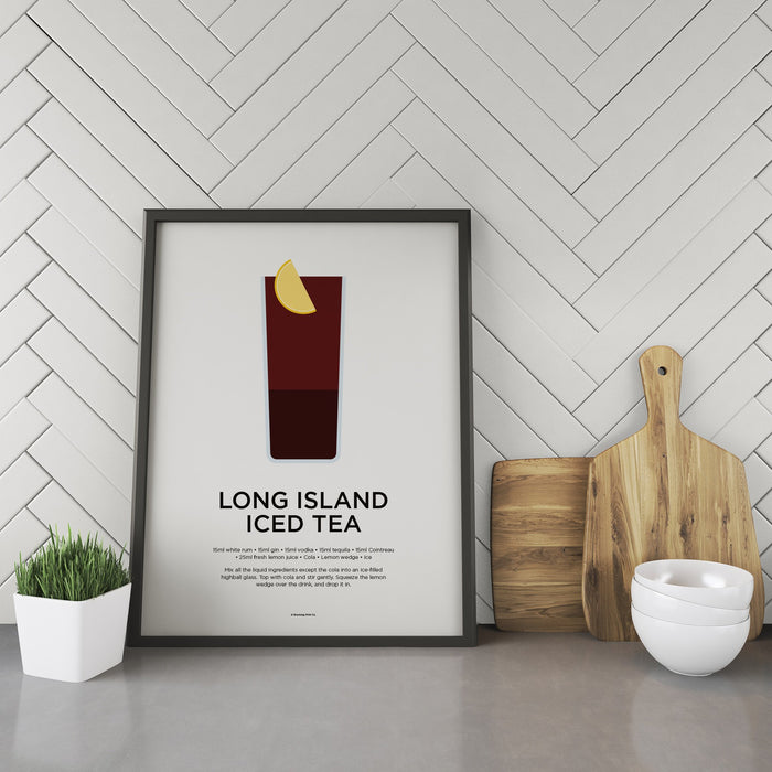 Long Island Iced Tea cocktail recipe print