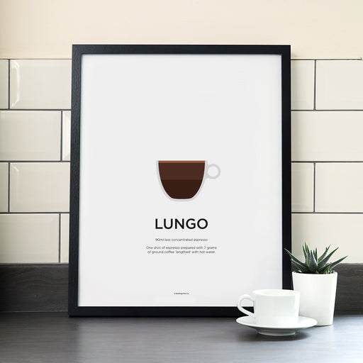 Lungo coffee poster