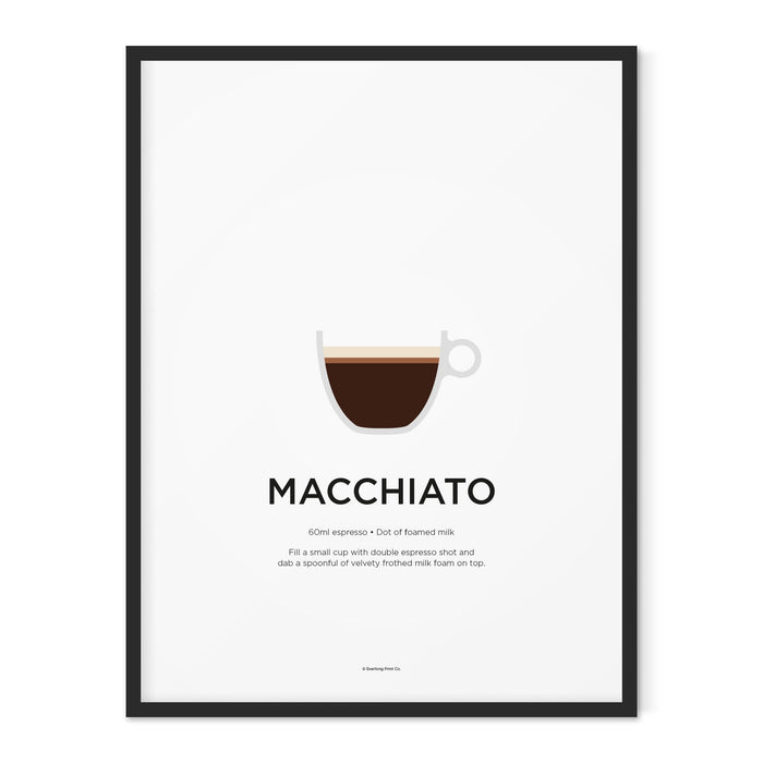 Macchiato coffee art print