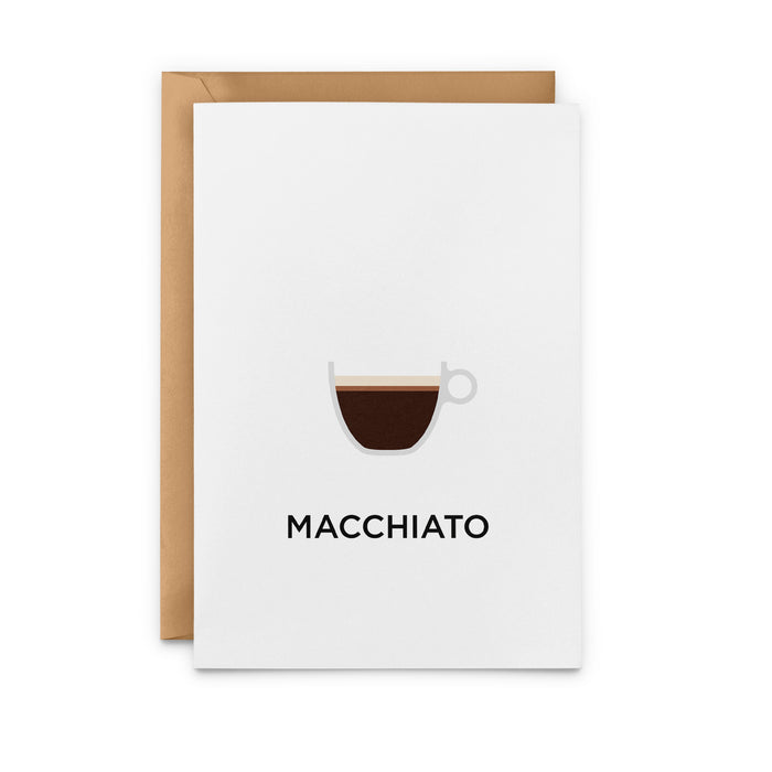 Macchiato Greeting Card