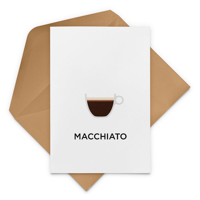 Macchiato Coffee Greeting Card