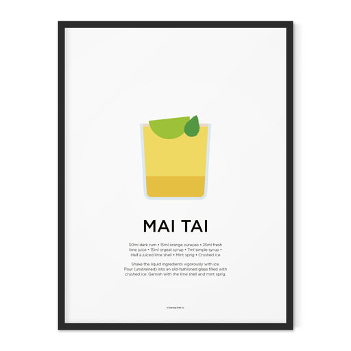 Mai Tai cocktail art print