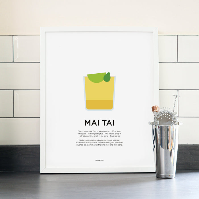 Mai Tai cocktail poster