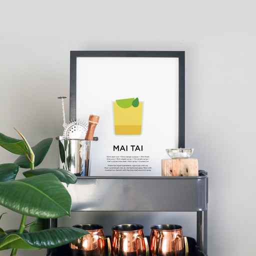 Mai Tai cocktail print