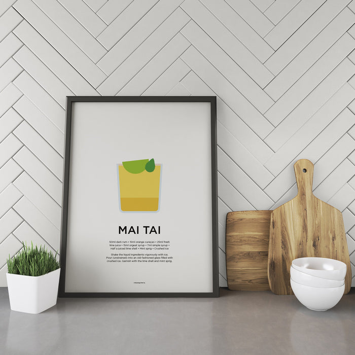 Mai Tai cocktail recipe print