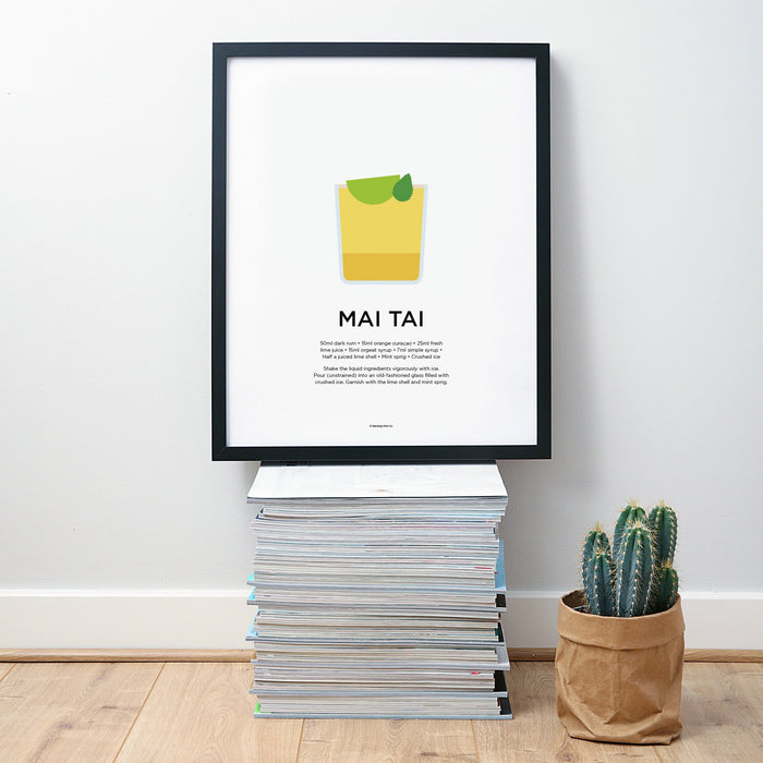 Mai Tai cocktail wall art