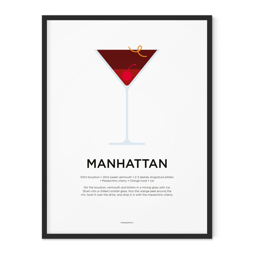 Manhattan cocktail art print