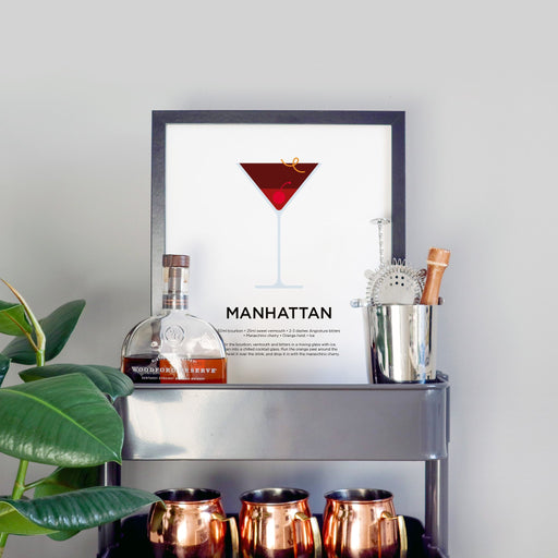 Manhattan cocktail print
