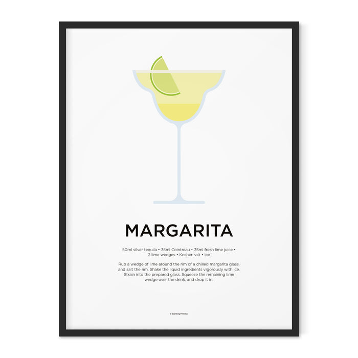 Margarita cocktail art print