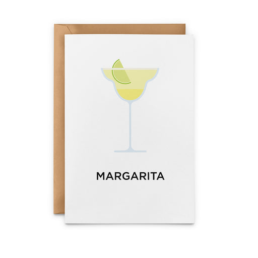 Margarita cocktail greetings card
