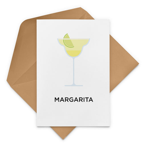 Margarita cocktail birthday card