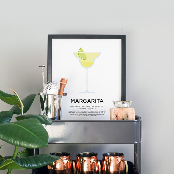 Margarita cocktail print