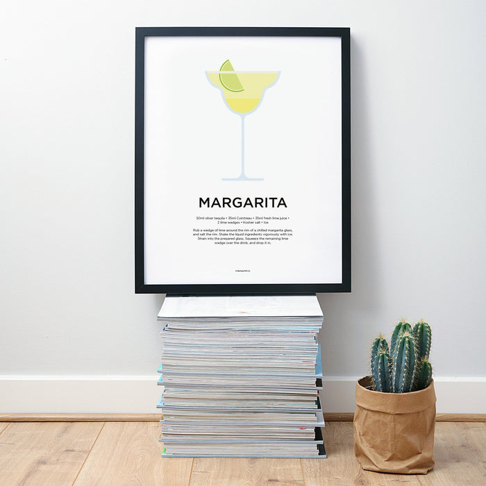 Margarita cocktail wall art