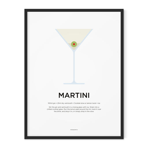 Martini cocktail art print