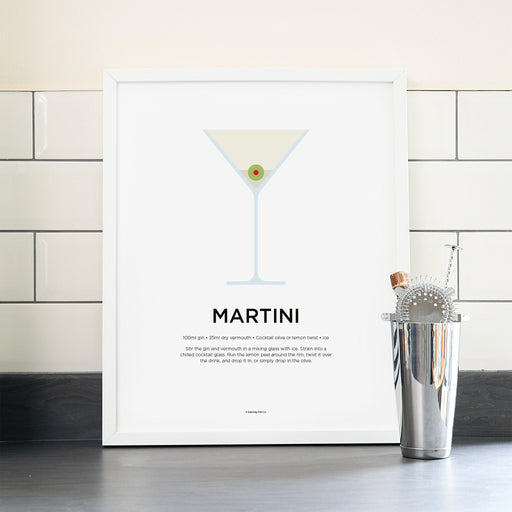 Martini cocktail poster