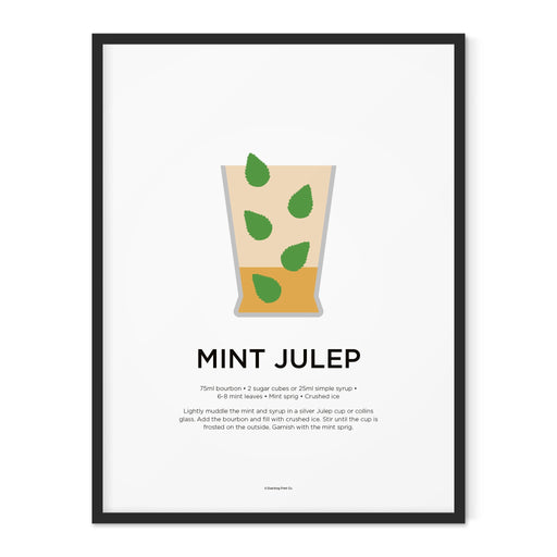 Mint Julep cocktail art print