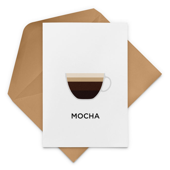 Mocha Coffee Greeting Card