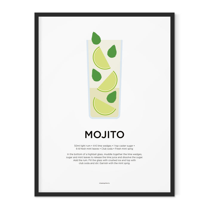Mojito cocktail art print