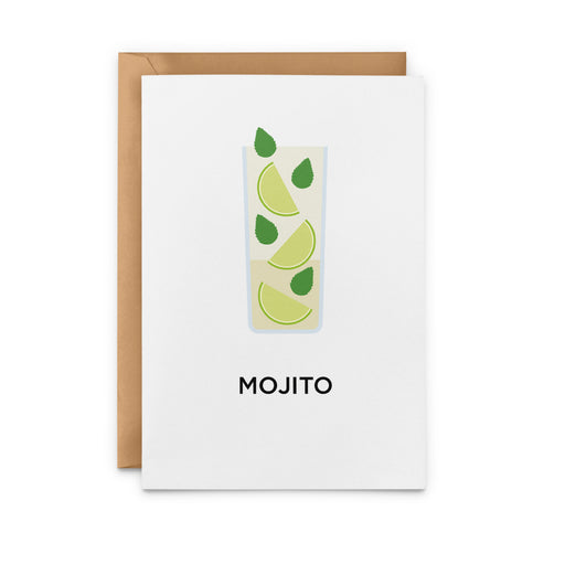 Mojito cocktail greetings card