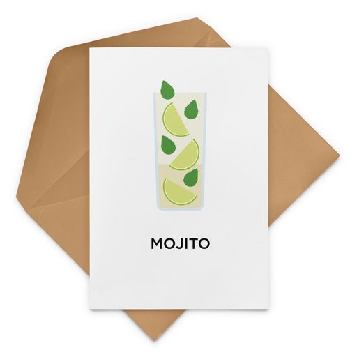 Mojito cocktail birthday card