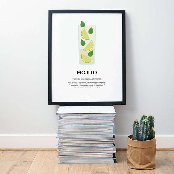 Mojito cocktail wall art