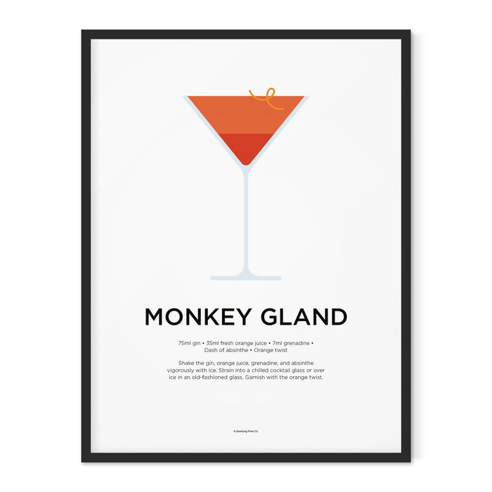 Monkey Gland cocktail art print