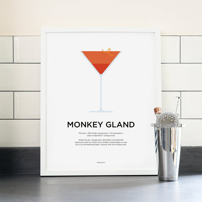 Monkey Gland cocktail poster
