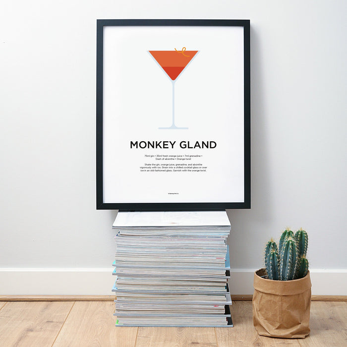 Monkey Gland cocktail wall art