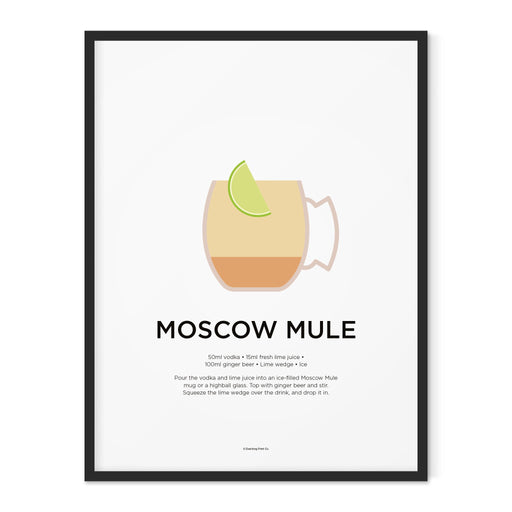 Moscow Mule cocktail art print