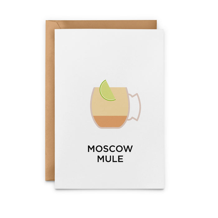 Moscow Mule cocktail greetings card