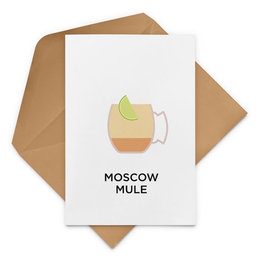 Moscow Mule cocktail birthday card