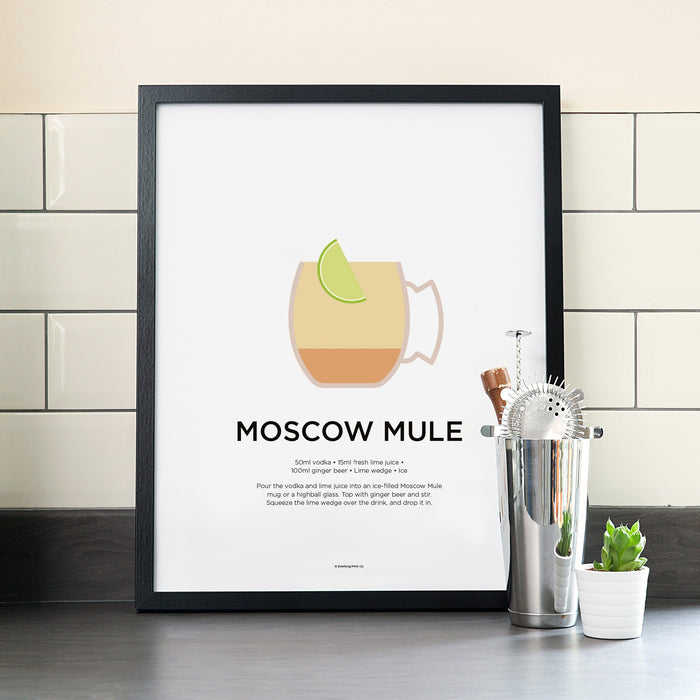 Moscow Mule cocktail poster
