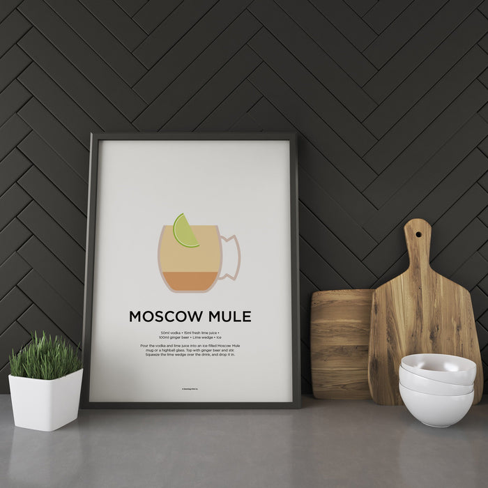 Moscow Mule cocktail recipe print