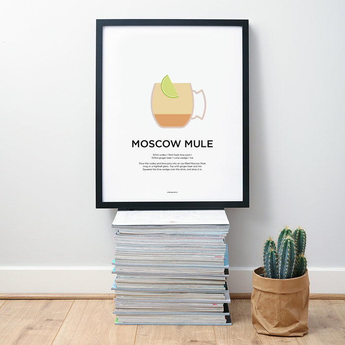 Moscow Mule cocktail wall art