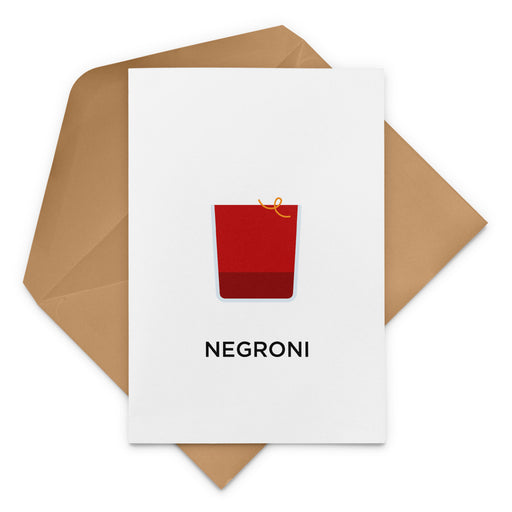 Negroni Birthday Card