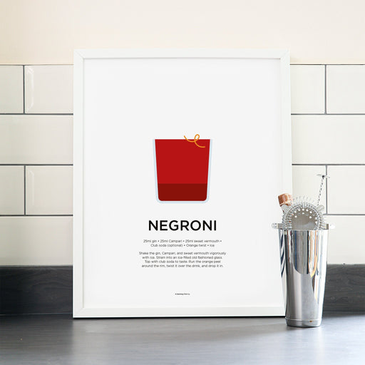Negroni cocktail poster
