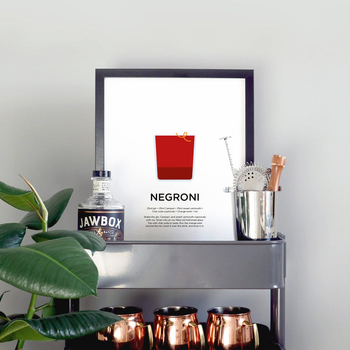 Negroni cocktail print