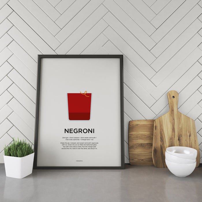 Negroni cocktail recipe print