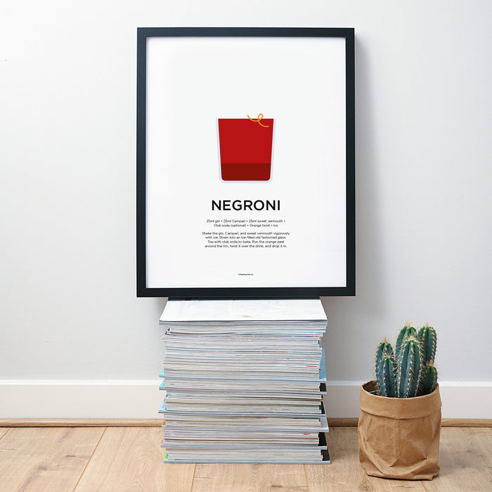 Negroni cocktail wall art