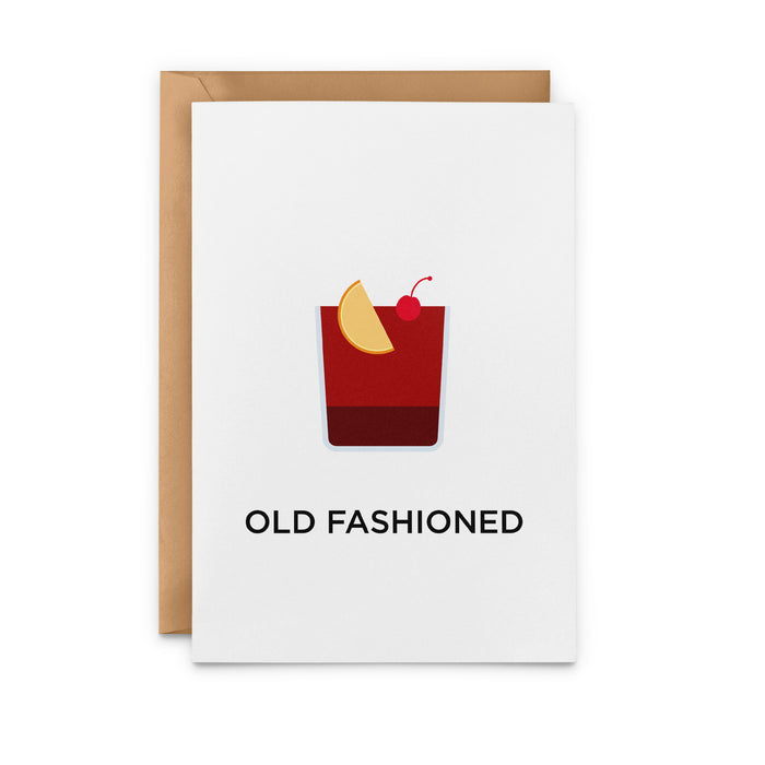 Old Fashioned Cocktail Greeting Card
