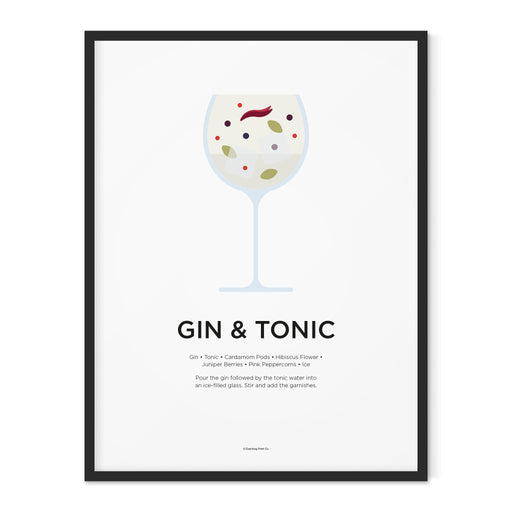 Personalised gin and tonic art print