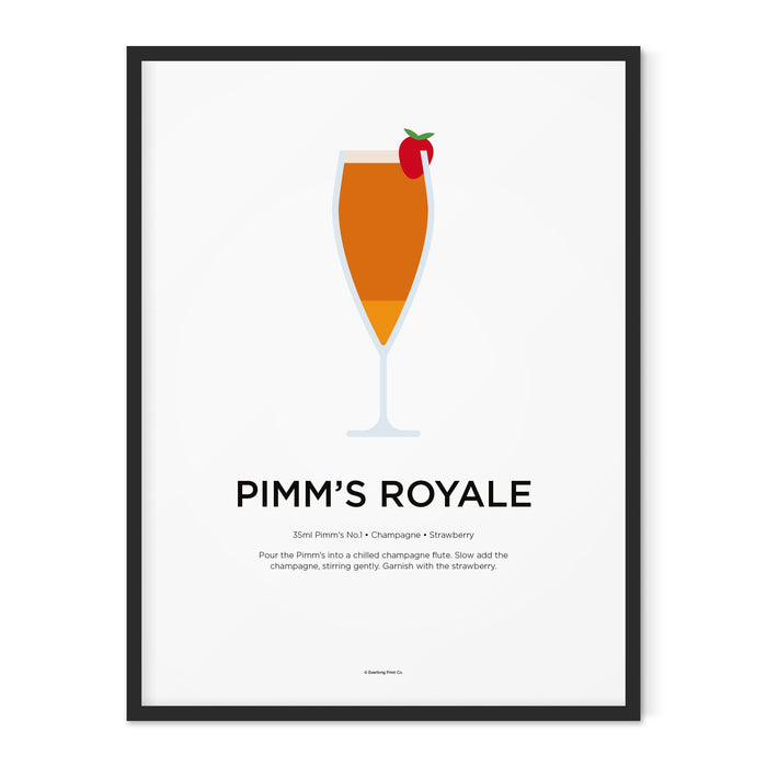 Pimm's Royale cocktail art print