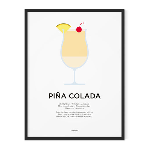 Pina Colada cocktail art print