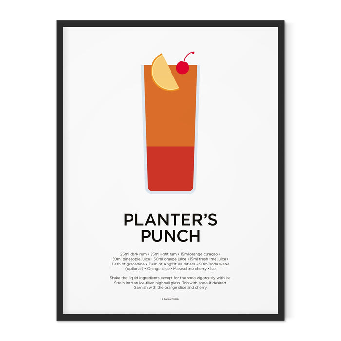 Planter's Punch cocktail art print