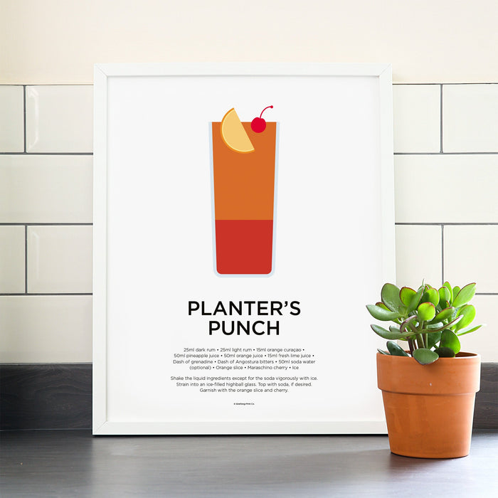 Planter's Punch cocktail poster