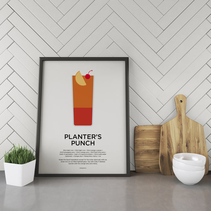 Planter's Punch cocktail recipe print