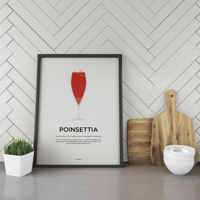 Poinsettia cocktail recipe print