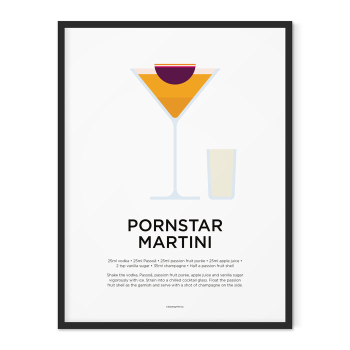 Pornstar Martini cocktail art print