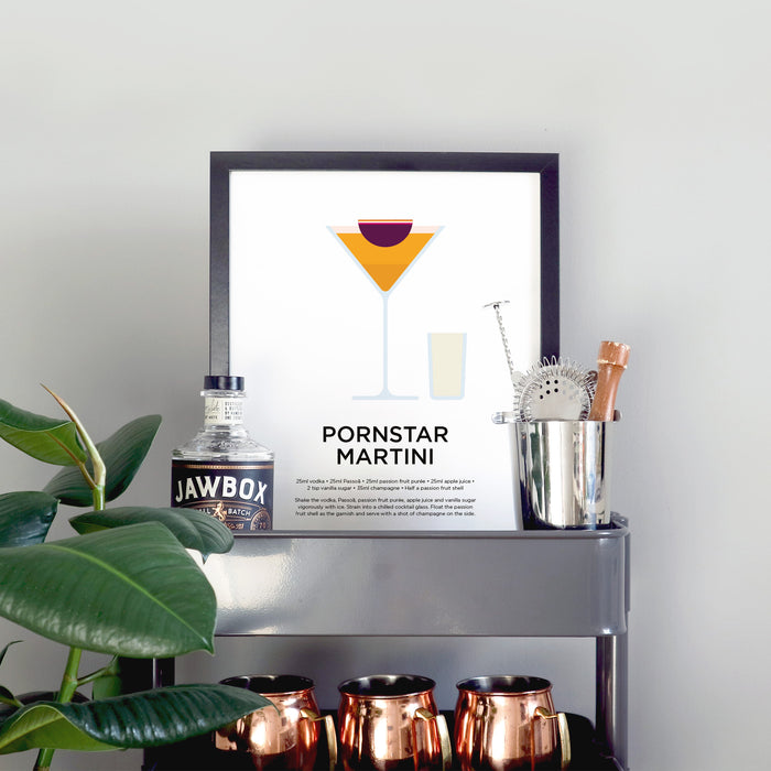 Pornstar Martini cocktail print
